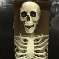 Posable Skeleton Sign Zip Tie Bushing