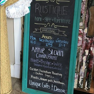 Chalkboard Sign Rustique Rustic