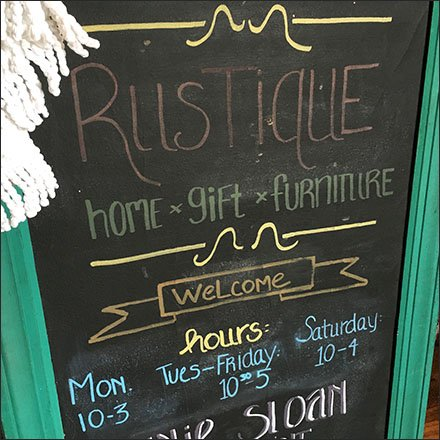 Chalkboard Lobby Sign Rustique not Rustic