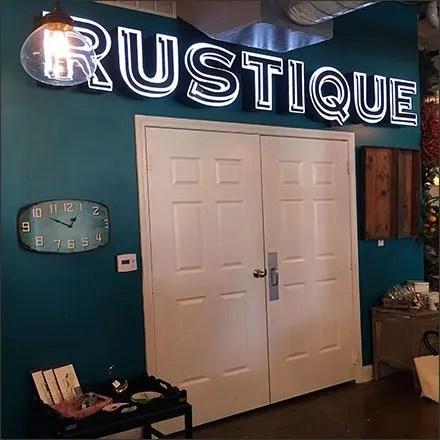 Rustique Neon-esque Interior Branding
