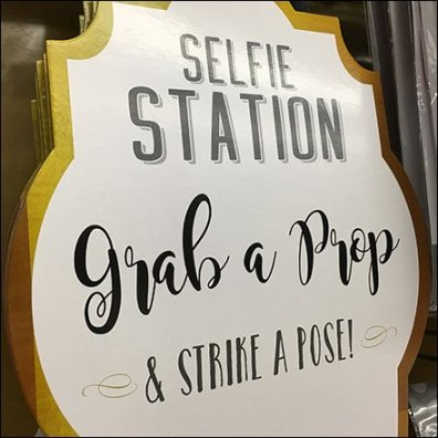 Selfie Station Strike A Pose Store Sign