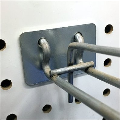 Pegboard Scan Hook Protector Plate
