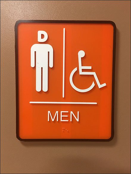 Dunkin' D for Donut Head Restroom Signs