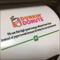 Dunkin' Donuts Branded Hand Dryer