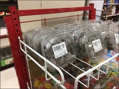 Freestanding Candy Open Wire Shelf Tower