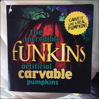 Funkins Artificial Carvable Pumpkin Bulk Bin Aux
