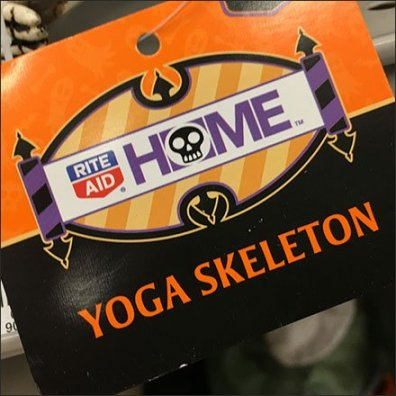 Halloween Skeleton Yoga Pose Aux