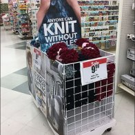 Knit Without Needles Yarn Bulk Bin Display