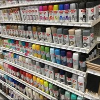 Krylon Spray Paint Gravity Feed Gondola Shelf