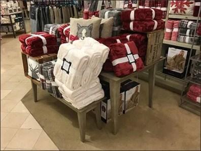 Belly-Banded Blanket Trestle Table Display