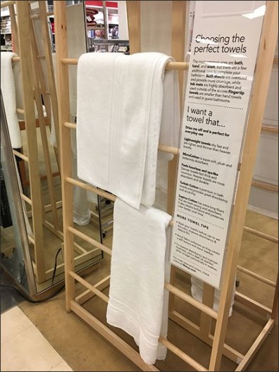 Freestanding Trapezoid Towel Display Rack