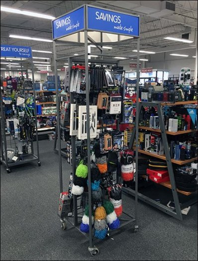 Men's Accessories Mobile Gridwall Tower
