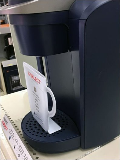 Keurig Coffee Maker Flat Cup Display