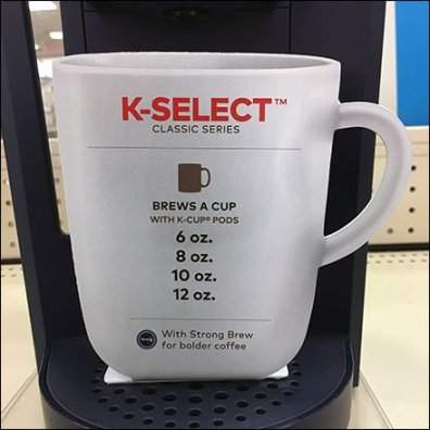 Keurig Coffee Maker Flat Cup Display