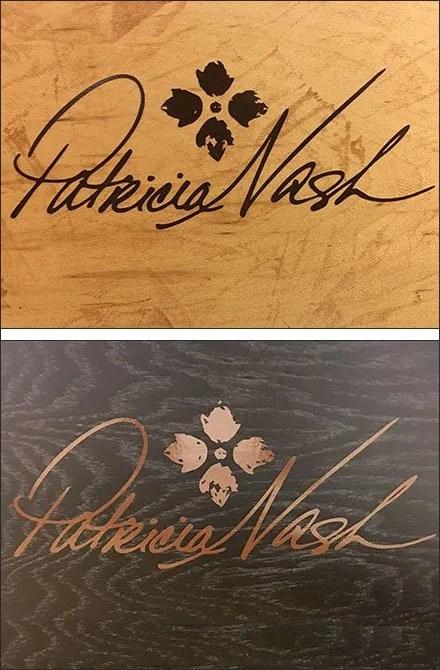 Dark-on-Light vs Light-on-Dark Patricia Nash Logo
