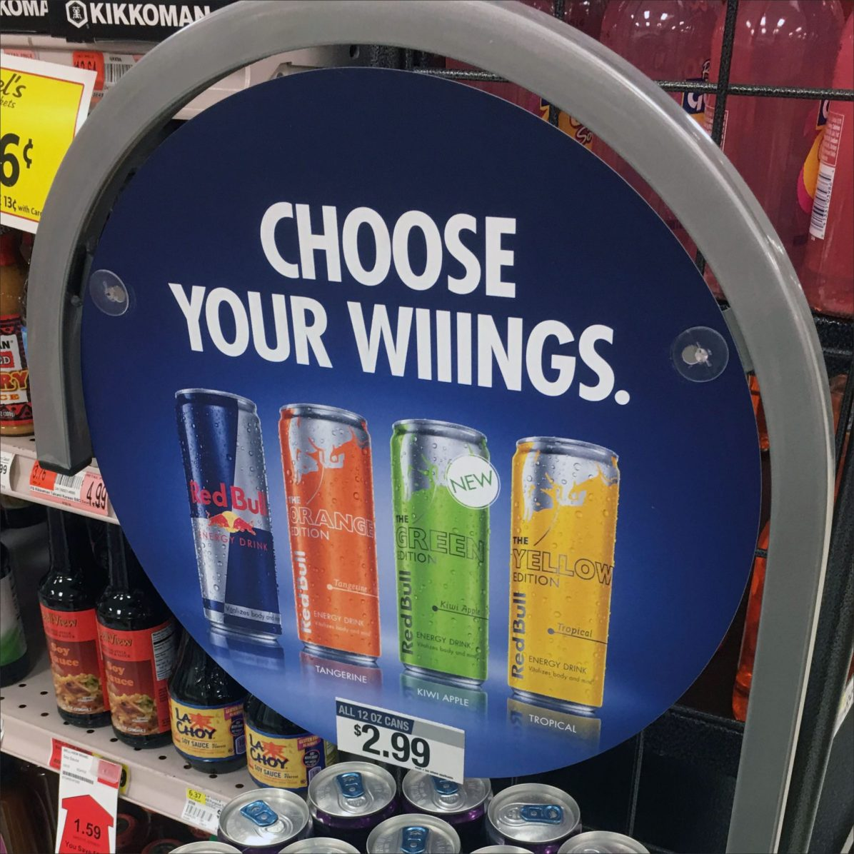 Redbull Wings Multi-Flavor Circular Tower