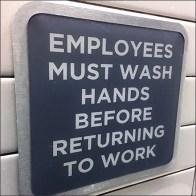Restroom Hand Wash Instructions Framed