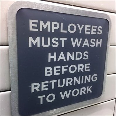 Restroom Hand Wash Instructions Framed