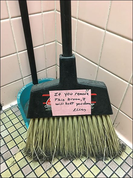 Restroom Housekeeping Taken To Extremes