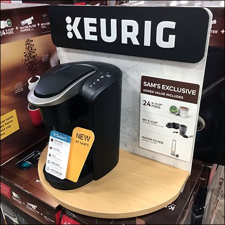 Keurig Coffee Pallet Load Shelf-Display