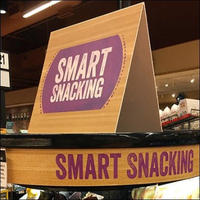 Smart Snacking Matching Signage Tent and Curve Square