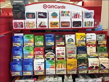 Target Gift Card Flip-Front Label Holder