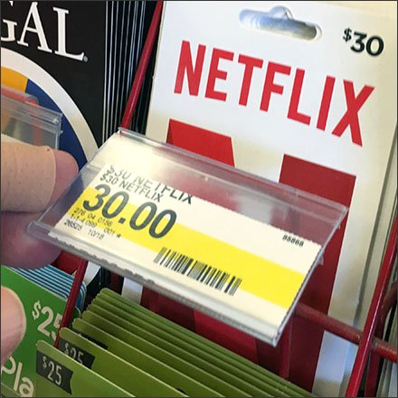 Target Gift Card Flip-Front Label Holder Feature