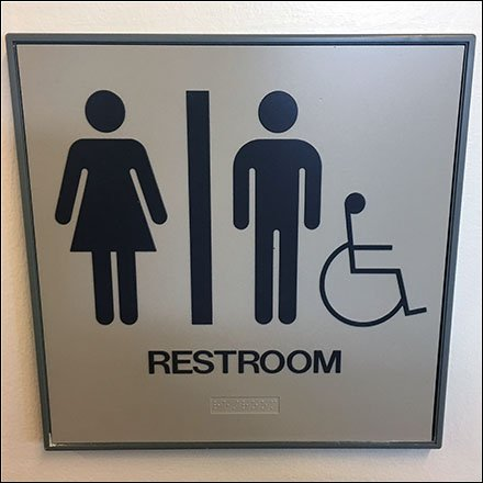 Unisex Restroom With Handicapped Sidebar