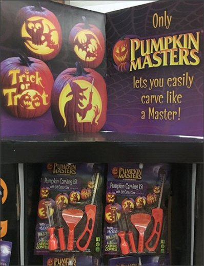 Pumpkin Master Carving Kit Merchandising