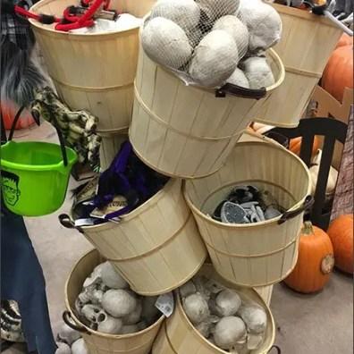 Bushel Basket Tree As Halloween Bulk Bins