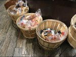 Bushel Basket Ornate Open Wire Floor Stand
