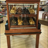 Wood Baked Goods Cabinet For Supermarket