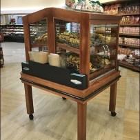 Wood Baked Goods Cabinet For Supermarket