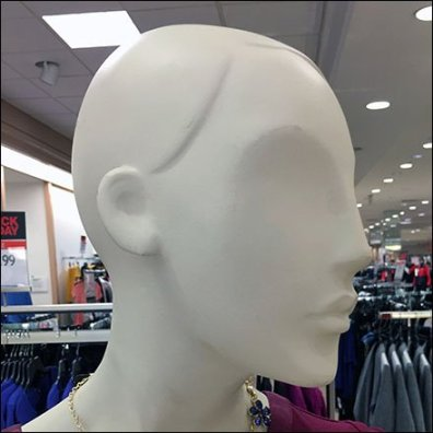 Alopecia Mannequin Spokesmodels at Macys
