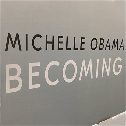 Becoming Michelle Obama Book Display