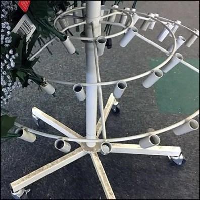 Christmas Poinsettia Circular Floral Rack