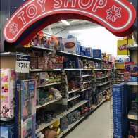 Christmas Toy Shop Holiday Aisle Flyover