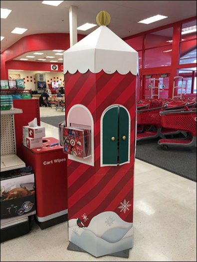 Corrugated Christmas Guard Tower At Target