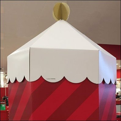 Corrugated Christmas Guard Tower At Target Square