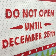 Dollar Tree Do Not Open Until Christmas Gift Bag Feature