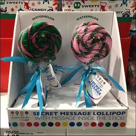 Dylan's Candy Bar Secret Message Lollipop
