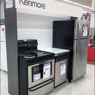 Kenmore Flyover Appliance Branding At Kmart