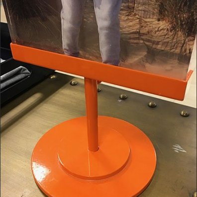Tommy Hilfiger Table-Top Sign in Brilliant Orange