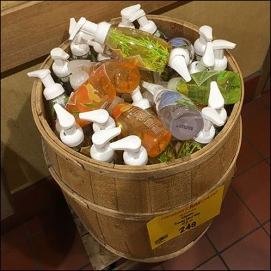Restroom Hand Soap Cross Sell by the Barrel Feature