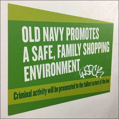 Safe Family Shopping Criminal Activity Warning