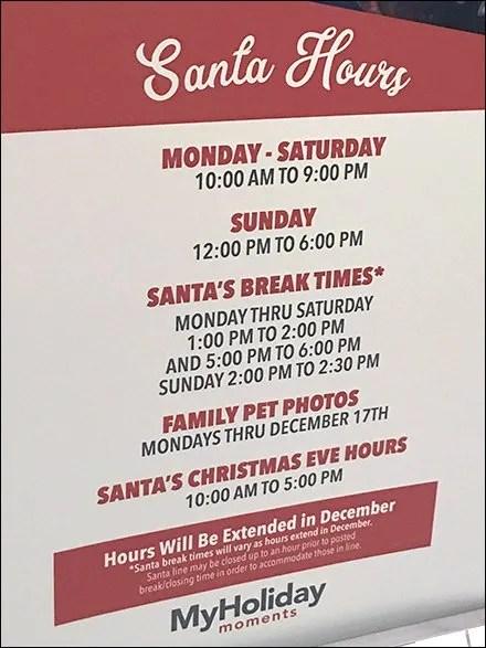Santa Break Time Scheduled In Advance