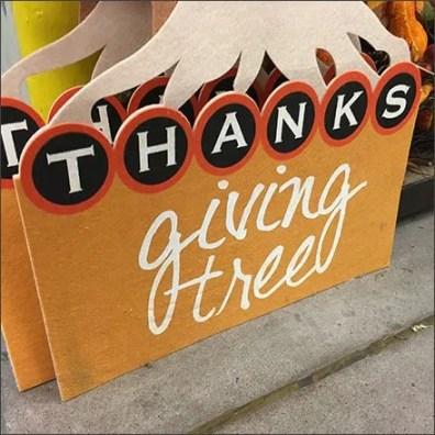 Thanks Giving Tree Thanksgiving Merchandising