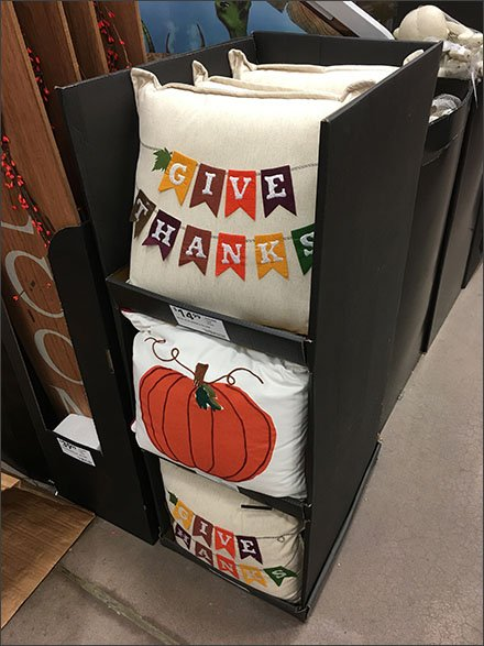 Thanksgiving Pillow Promotion Point-of-Purchase