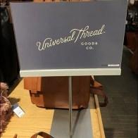 Universal Thread Trestle-Table Purse Display