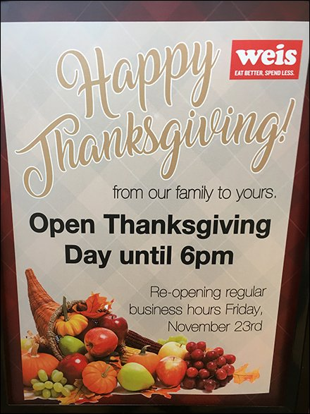 Heroic Retail Store Hours Thanksgiving Day